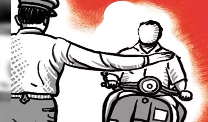 Curfew ढील में स्कूटर पर 50 किमी सफर तय कर मां चिंतपूर्णी के दर पहुंचा व्यक्ति