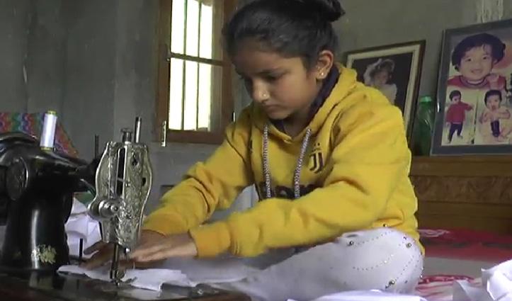 हमीरपुर : रोजाना Mask बनाकर राहगीरों को बांट रही 11 साल की बच्ची, पेश की मिसाल