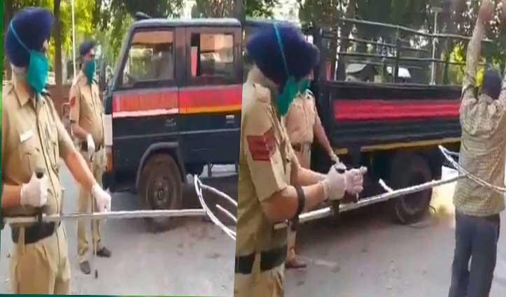 Lockdown तोड़ने वालों को बिना हाथ लगाए पकड़ने के लिए चंडीगढ़ पुलिस ने बनाई डिवाइस