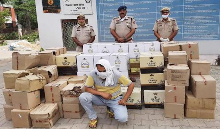 Kangra निवासी तूड़ी में छिपाकर ले जा रहा था 101 पेटी शराब, गिरफ्तार