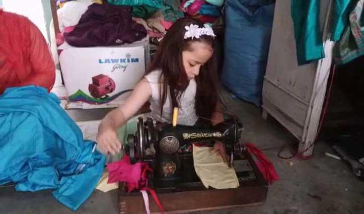 सात साल की अवनी कोरोना के खिलाफ जंग में ऐसे दे रही सहयोग