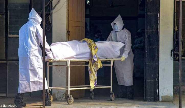 IGMC में कोरोना संक्रमित मृतक महिला का कनलोग शमशान घाट में किया अंतिम संस्कार