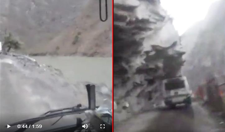 बेखौफ HRTC चालकः चलती बस में Dangerous Road पर हो गया फेसबुक लाइव