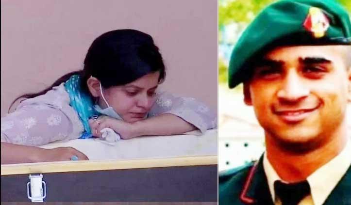 पंचतत्व में विलीन हु्ए हंदवाड़ा मुठभेड़ में शहीद Major Anuj Sood, पत्नी बोली – शहादत पर गर्व, हमेशा साथ रहेंगे