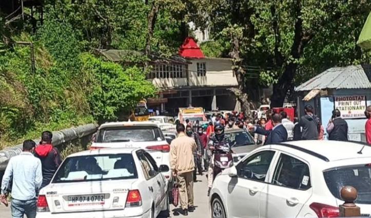 लॉकडाउन 3.0: IGMC रोड पर लगा लंबा जाम, लोग हुए घंटों परेशान