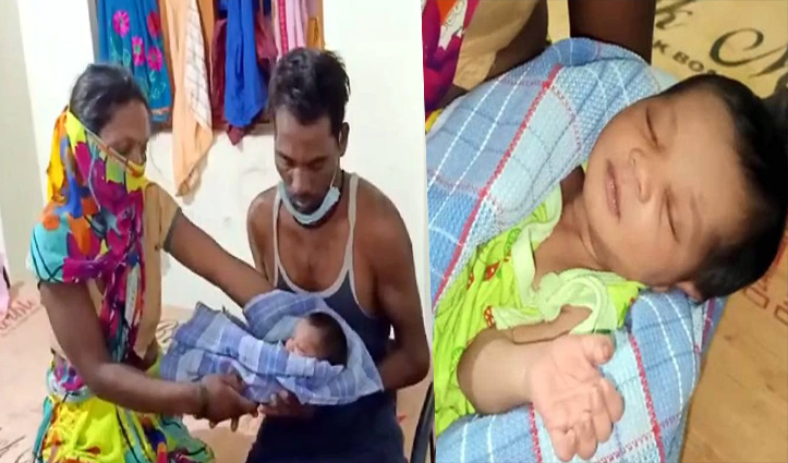 Lockdown: महिला ने सड़क पर दिया बच्चे को जन्म; फिर गोद में उठाकर पैदल चल पड़ी