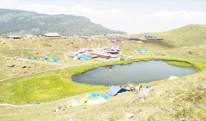 Prashar Lake पर भी पड़ा लॉकडाउन का असर, अब तेज गति से घूम रहा भूखंड