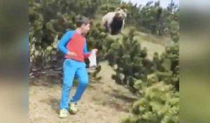 Viral Video - पहाड़ी पर चढ़ा 12 साल का लड़का, पीछे से आया भालू, जानिए फिर क्या हुआ