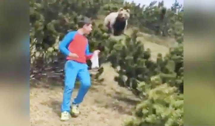 Viral Video – पहाड़ी पर चढ़ा 12 साल का लड़का, पीछे से आया भालू, जानिए फिर क्या हुआ