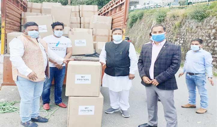 कोरोना से जंग लड़ने को JP Nadda ने हिमाचल भेजे ढाई लाख Face Cover