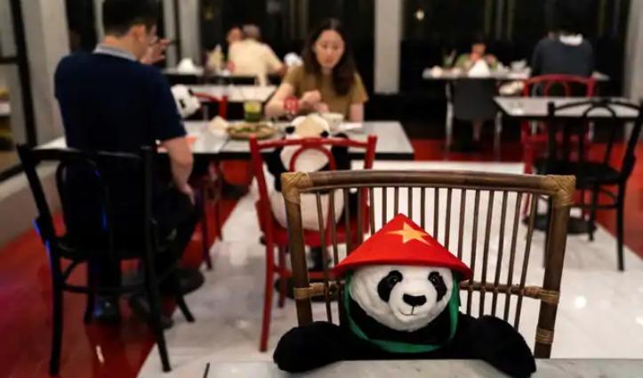 बैंकॉक के इस Restaurant में लोगों को डिनर पर कंपनी दे रहा Cute Panda, जानिए वजह