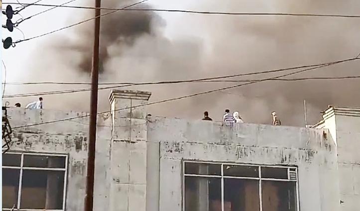 Poanta की बायोवेदा फार्मा कंपनी में भीषण आग, आसमान में उठीं लपटें