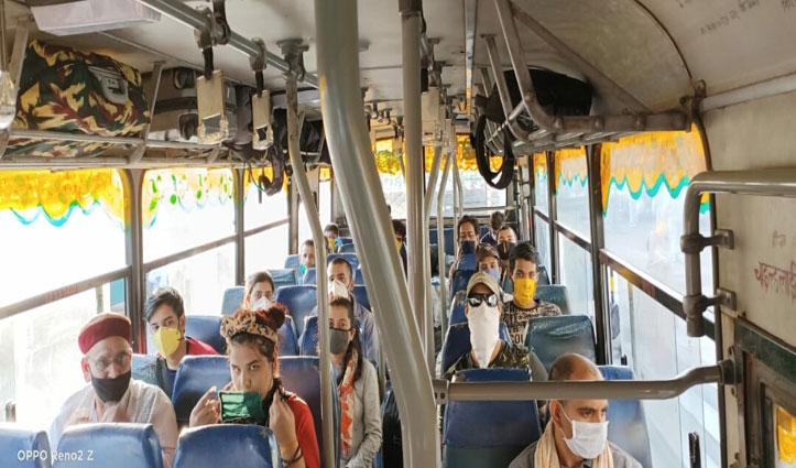 Thane से 580 हिमाचलियों को लेकर पहुंची Train, बसों में अपने-अपने जिलों को भेजा