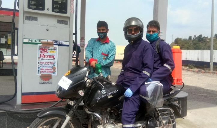 हिमाचल का एक पंप जो Corona Warriors के वाहनों में Petrol भरवाने पर दे रहा विशेष छूट