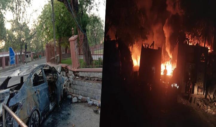 क़ुतुब मीनार की दीवार से टकराकर Blast हुई शराबी की कार, FIR दर्ज