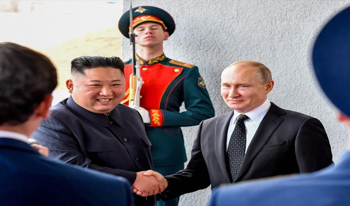 रूस ने Kim Jong Un को द्वितीय विश्व युद्ध के स्मारक पदक से किया सम्मानित
