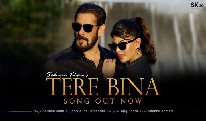 Salman Khan Song Tere Bina: पनवेल फार्महाउस पर सलमान-जैकलीन का रोमांस; देखें वीडियो