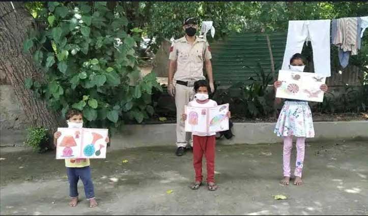 Lockdown में घर से दूर फंस गए मां-बाप तो पुलिस ने बच्चों के लिए थाने में खोल दिया स्कूल