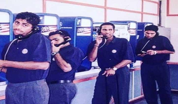 पुराने दिनों की याद में खोए युवराज: Telephone लाइन में लगे नजर आए सहवाग, लक्ष्मण और नेहरा