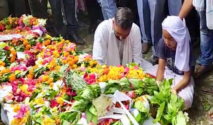 Indo-China clash: शहीद अंकुश ठाकुर को Military Honors के साथ दी अंतिम विदाई, हर कोई रोया