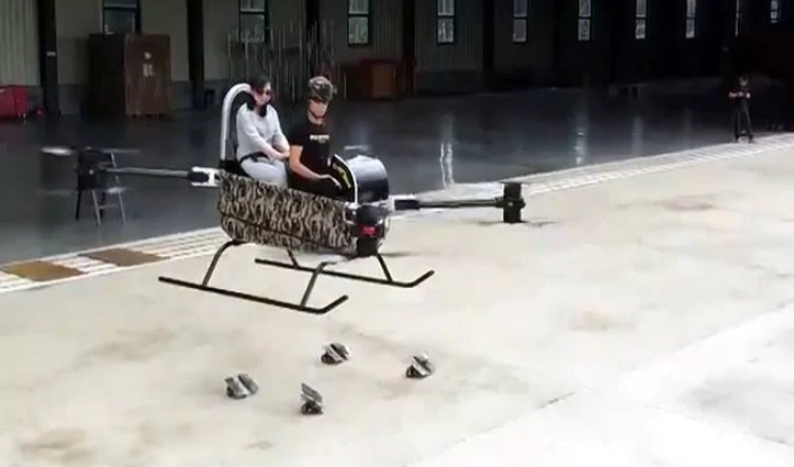 ड्रोन से बना दिया Mini Helicopter, दो लोग ले सकते हैं उड़ान का मजा