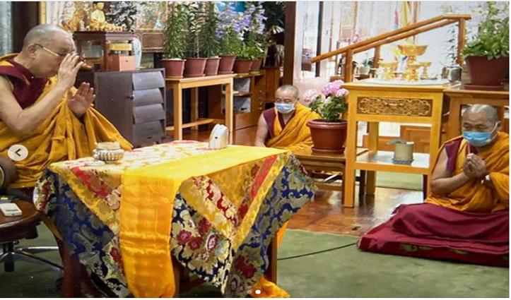 Dalai Lama की उपस्थिति में उनके निवास स्थान में Buddha Purnima पर बोधिचित्त समारोह आयोजित