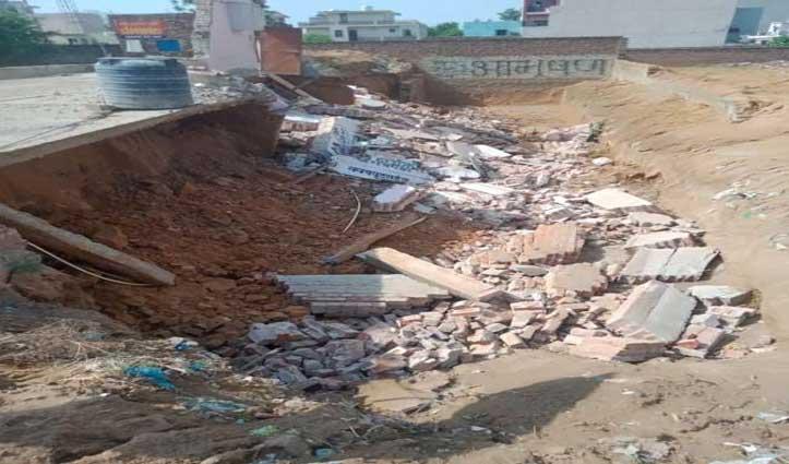 Basement की निर्माणाधीन दीवार गिरने से दबे दो मजदूर, एक की मौत, दूसरे की हालत गंभीर