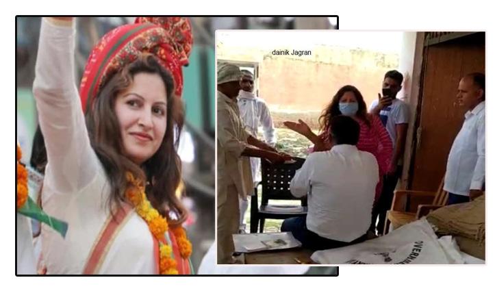 Tit-tok स्टार BJP नेत्री सोनाली फोगाट ने अधिकारी को चप्पल और थप्पड़ से पीटा, Video वायरल