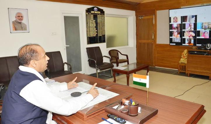 BJP महिला मोर्चा की वर्चुअल रैलियों में क्या बोले CM जयराम: जानें
