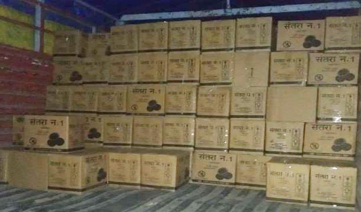 नगरोटा बगवां में देसी शराब से भरा Truck पकड़ा, पुलिस ने ट्रक और Liquor कब्जे में ली
