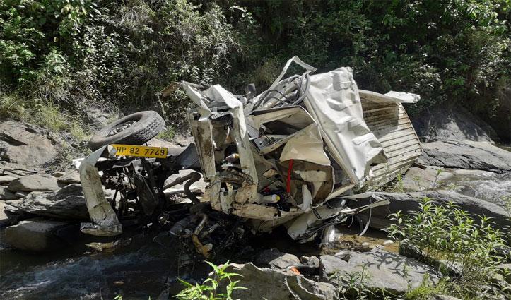 ब्रेकिंगः Mandi के कमांद में खाई में लुढ़की Pickup Jeep, तीन युवकों की गई जान