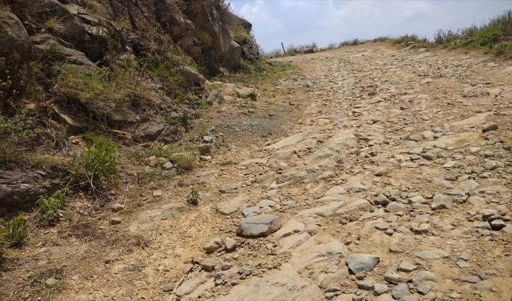 Mandi : सड़क है या नाला, 700 की आबादी वाले गांव को परेशानी में डाला