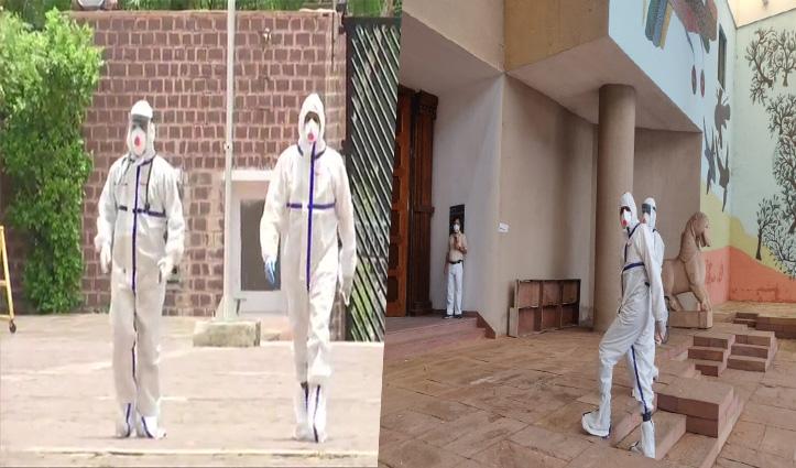 MP राज्यसभा चुनाव: PPE Kit पहनकर Vote देने पहुंचे कांग्रेस के कोरोना पॉजिटिव विधायक