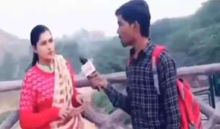 महिला से Prank करने गया युवक, पड़ गया उल्टा, Video देखकर नहीं रोक पाएंगे हंसी