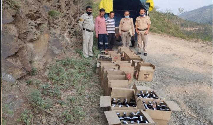 राजगढ़ व कालाअंब में पुलिस ने पकड़ी शराब, तीन Arrest