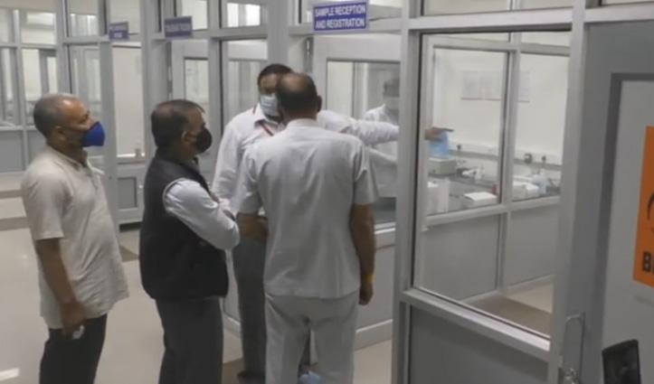 विधायक निधि से स्थापित कोरोना टेस्ट मशीन का निरीक्षण करने पहुंचे Sukhu