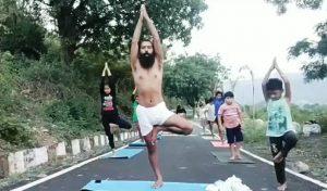 योग दिवस के लिए अभ्यास