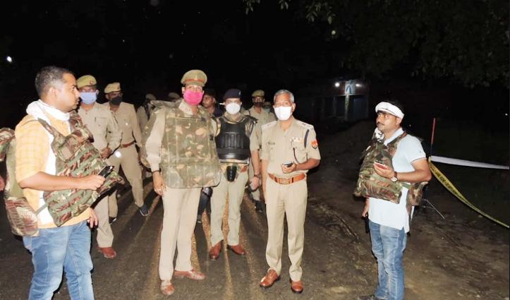 Encounter में मारा गया Varanasi Jail से फरार इनामी बदमाश, दो पुलिसकर्मी घायल
