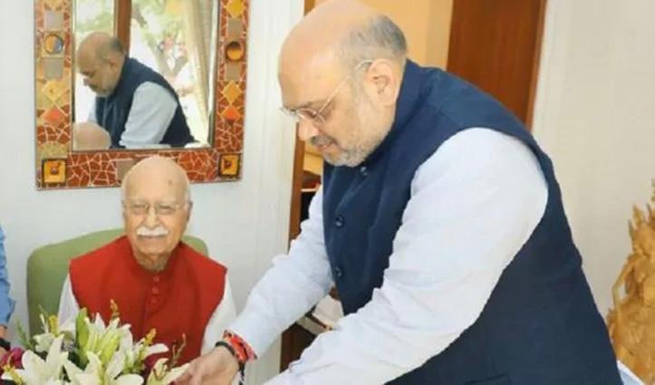 बाबरी विध्वंस केस में पेशी से पहले वकीलों की टीम के साथ Advani के घर पहुंचे Amit Shah