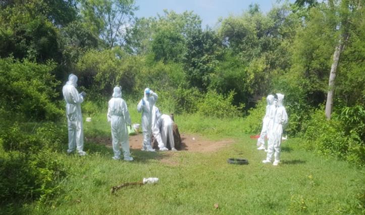 Corona Infected महिला का Nahan में पूरे प्रोटोकॉल के साथ हुआ अंतिम संस्कार