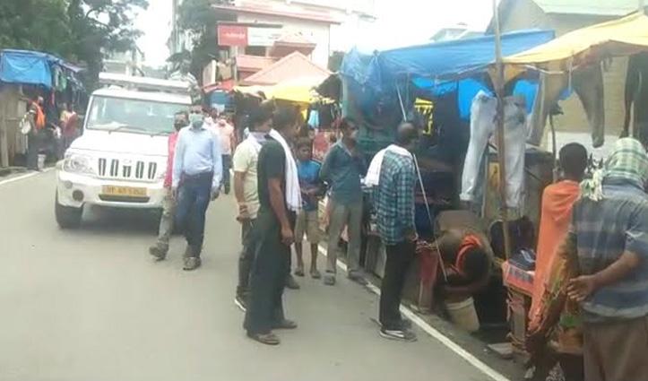 Hamirpur शहर में अतिक्रमण पर चला चाबुक, दुकानदारों का सामान जब्त
