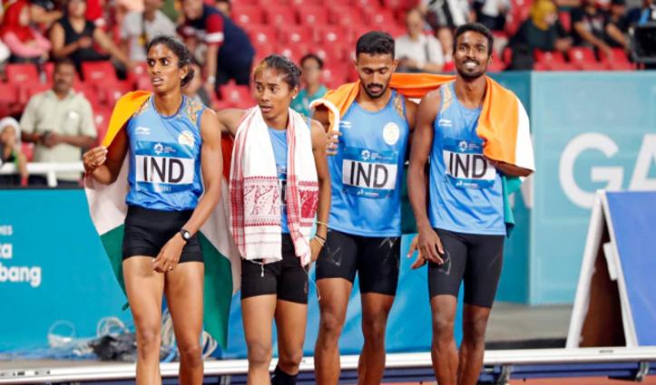 Asian Games 2018: भारतीय मिश्रित रिले टीम का सिल्वर अपग्रेड होकर हुआ गोल्ड, जानें