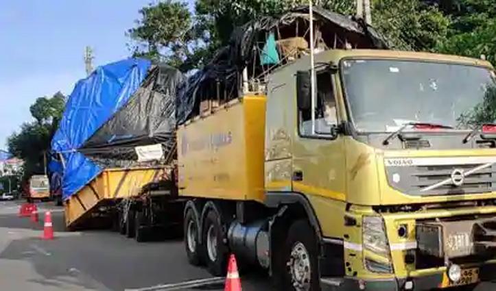 महाराष्ट्र से निकला Truck 10 महीने में पांच राज्यों से 1700 KM की यात्रा के बाद केरल पहुंचा