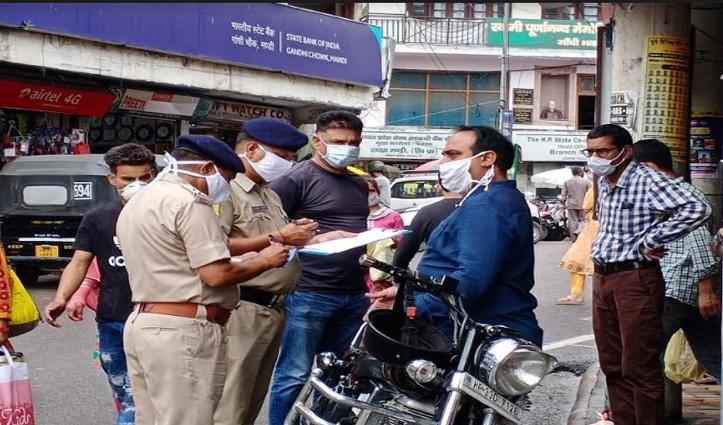 Mandi में फेस मास्क ना लगाने पर किए गए 994 चालान, 5 लाख वसूला जुर्माना