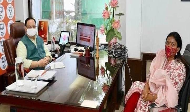 Indu Goswami की दिल्ली में सक्रियता शुरू, बीजेपी अध्यक्ष Nadda से मुलाकात भी चर्चा भी
