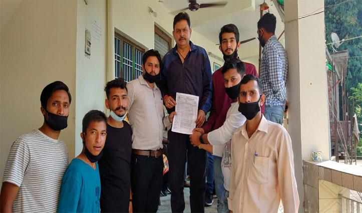 डीएलएड/ जेबीटी प्रशिक्षित बेरोजगार संघ ने अपने से हो रहे अन्याय बाबत विधायक Arun Mehra को बताया