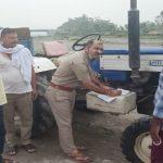 Illegal Mining कर रहे ट्रैक्टर संचालकों पर पुलिस का शिकंजा, जुर्माना भी वसूला