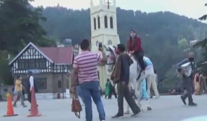 Shimla: पर्यटकों के लिए Himachal के द्वार खुलते ही रिज पर दौड़े घोड़े