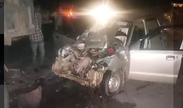 किरतपुर-मनाली एनएच 21 पर टकराए कार-टैंपो, दो घायल- एक IGMC रैफर