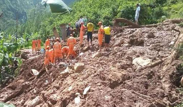 Pithoragarh में बारिश से तबाही : दो घर जमींदोज, मां-बेटे के साथ 47 मवेशी दबे, एक की मौत